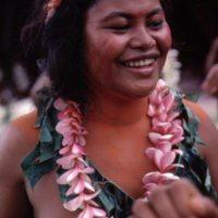 Mau Piailug's daughter Hanora, dancing. Satawal Island.…