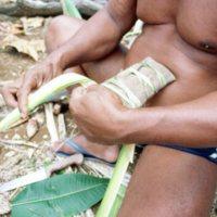 Man Weaving Palm Leaves - 02