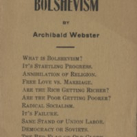 America's new foe, the red peril Bolshevism