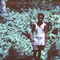 Native with machete. Ponape. June 1950