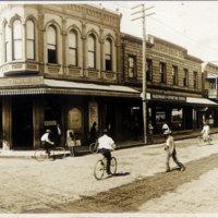 Downtown street corner
