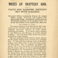 Moses an Egyptian god: facts and legends identify him…