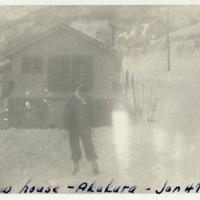 A person on the snow at Akakura Ski Resort, Niigata…