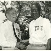 Two wartime Bougainville coastwatchers . . . Paul Mason…