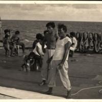 Ujilan Group on LST 827 Making Sails