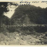 A bridge over a stream, Miyanoshita Hakone, Japan