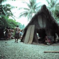 Village scene, Satawal