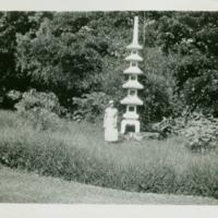 [116] Woman by Stone Pagoda