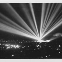 Searchlights at night