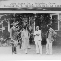 Oahu Sugar Company - Manager E. W. Greene and wife at…