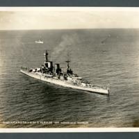 H.M.S. Repulse off Honolulu Harbor