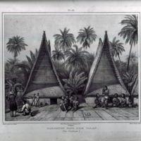 Habitation Dans L'ile Ualan (Iles Carolines)