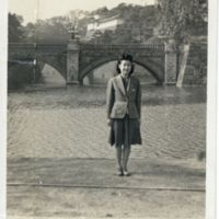 Kaizawa 2-040: A Japanese woman in western clothing…