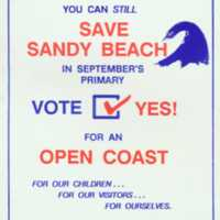 Yes! You can still save Sandy Beach