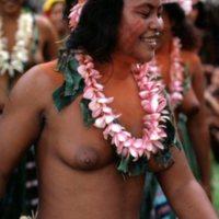 Hanora (Mau Piailug's daughter) dancing on Satawal…