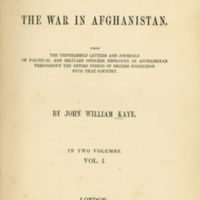 History of The War in Afghanistan (Vol. I)