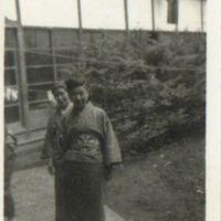 Kaizawa 2-047: Two Japanese women in kimono, Allied…