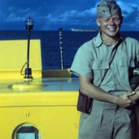 Bud Lindholm. Kwajalein. Dec. 1950