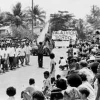 Parade in Koror, 1977, possibly for UN Day celebration…