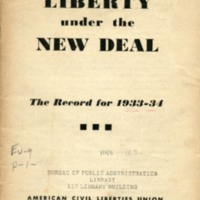 Liberty under the new deal: the record for 1933-34.