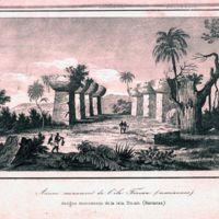 Ancien monument de l'ile Tinian (mariannes)