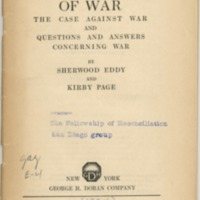 Abolition of war: the case against war and questions…