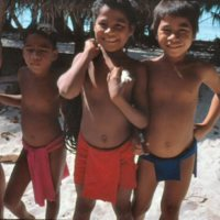 Young Boys Standing on Beach