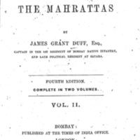 History of the Mahrattas (Vol. II)