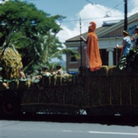 [Float with representation of King Kamehameha]