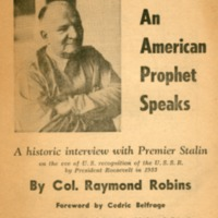 American prophet speaks: a historic interview with…