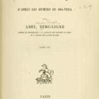 Religion Vedique D' Apres Les Hymnes Du Rig-Veda (Vol.…