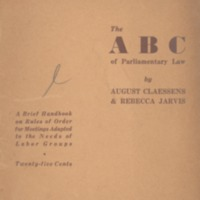 ABC of parliamentary law: a brief handbook on rules of…