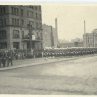 720th M.P. Battalion composite Company marching for…