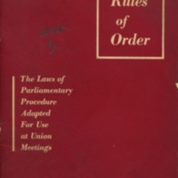 Union rules of order: the laws of parliamentary…
