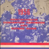 1956 Westinghouse convention handbook and voters' guide