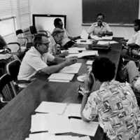 Ad Hoc Committee on crime control, 1977. Left to right:…