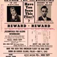 Reward for Information, Have You Seen This Flier?