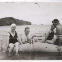 Mae, Kevin, Joan, & Emil in rubber boat (RAAF).…