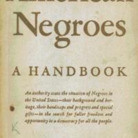 American Negroes, a handbook.