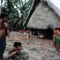 Ceremonies at Lugerhig canoe house, on Satawal.