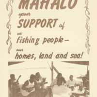 Mahalo your support of us fishing people - our homes,…