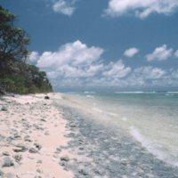Beach on Satawal - 03