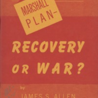 Marshall plan--recovery or war?