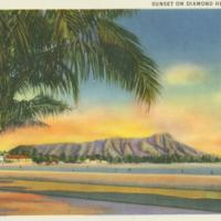 [043] Sunset on Diamond Head, Honolulu