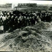 Pile of Bones. Part of 32,000 Cremated at Honjo.