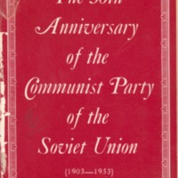 50th anniversary of the Communist Party of the Soviet…