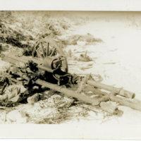 An abandoned artillery gun on a beach, Okinawa