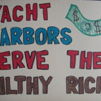 Yacht Harbors Serve the Filthy Rich!