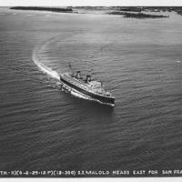 B-295 SS Malolo heads east