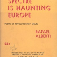 Spectre is haunting Europe: poems of revolutionary…